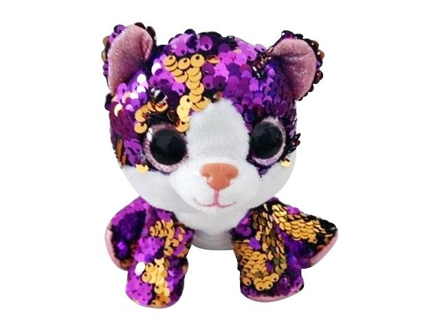 Мягкая игрушка Пайетки Кошка 14см ABToys M2041