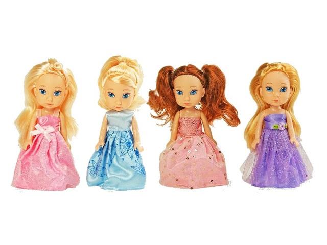 Кукла Isabella 17см в цветном платье ассорти YL1603K-B