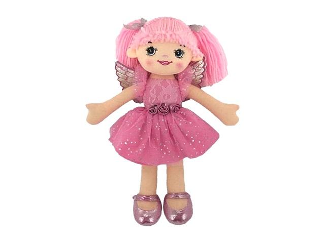 Кукла мягкая 30см Балерина розовая ABToys M6004