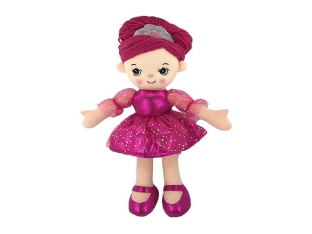 Кукла мягкая 30см Балерина розовая ABToys M6002