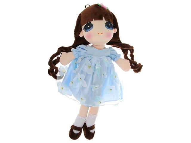 Кукла мягкая 50см в голубом платье ABToys M6048