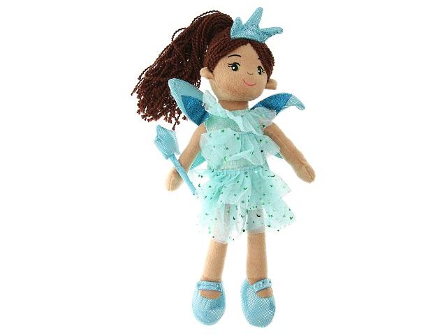 Кукла мягкая 45см Фея в голубом платье ABToys M6050