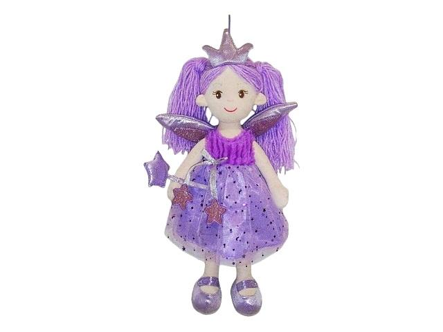 Кукла мягкая 45см Фея в фиолетовом платье ABToys M6049
