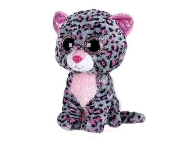 Мягкая игрушка Леопард серо-розовый 15см ABToys M0013