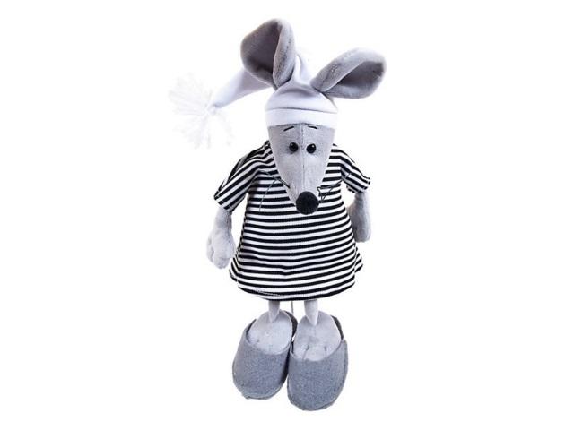 Символ года Мягкая игрушка Мышка 16см в тельняшке ABToys M2088