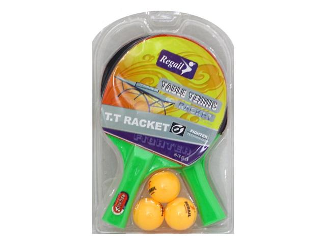 Теннисный набор 2 ракетки 3 шарика Regail 6678T