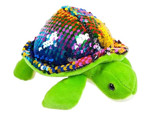 Мягкая игрушка Пайетки Черепаха 17см ABToys M2039