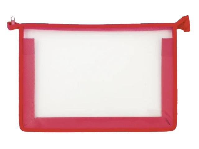 Папка для тетрадей А4 на молнии Стримлайн красная 400635