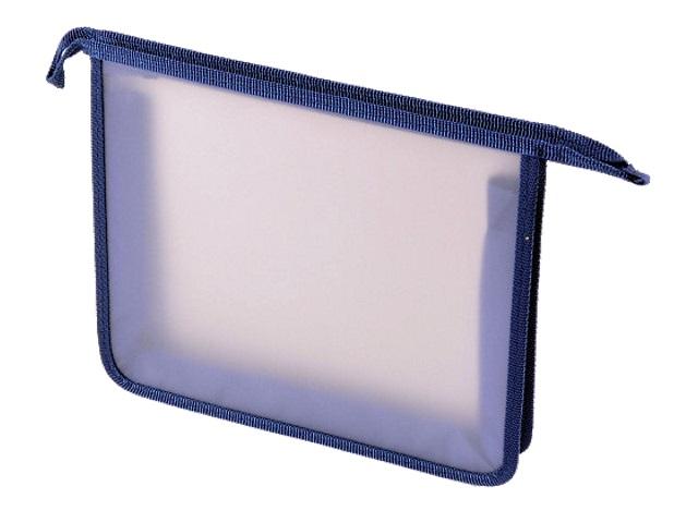 Папка для тетрадей А4 на молнии Стримлайн синяя 400631