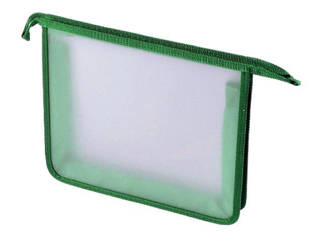 Папка для тетрадей А4 на молнии Стримлайн зеленая 400638