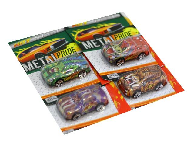 Машина металл Dinosaur King 6см ассорти 68356