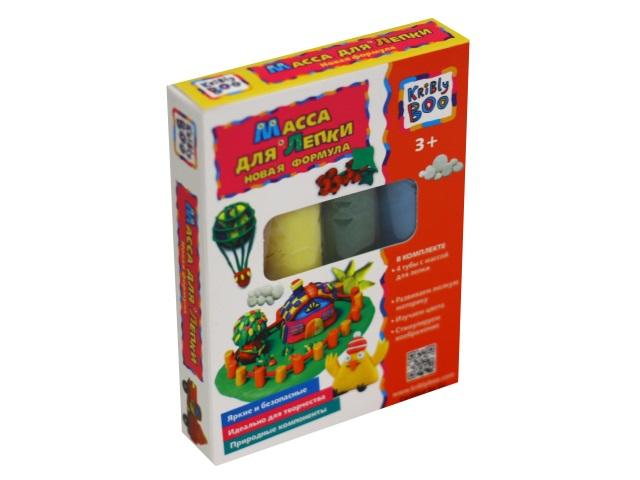 Тесто для лепки 4 цвета по 40г Kribly Boo 67849