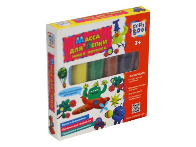 Тесто для лепки 6 цветов по 40г Kribly Boo 67850