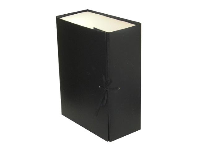 Папка архивная бумвинил на завязках А4 12см Имидж черная КСБ4120-211