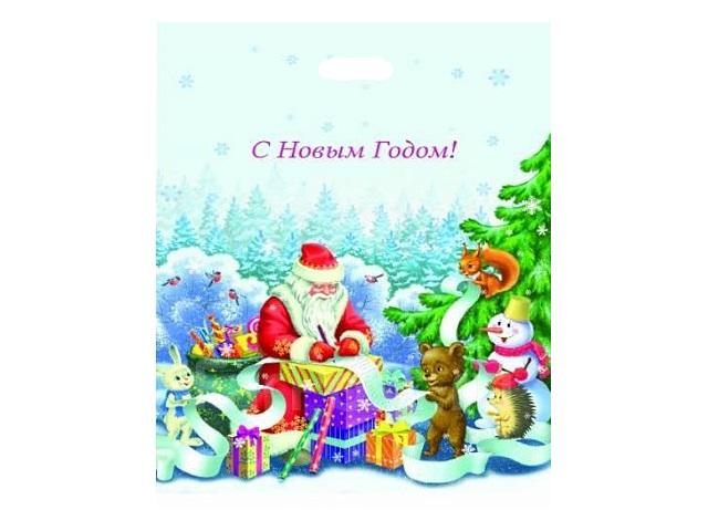 Пакет с прорезной ручкой 36.5*48см Список подарков на Новый год Miland ПП-3843