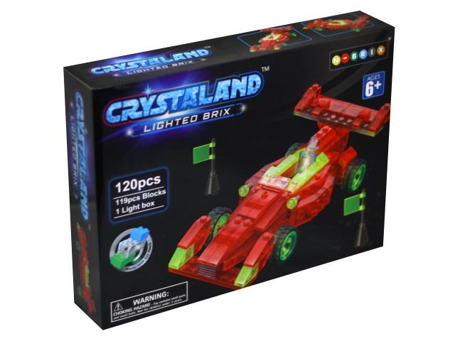 Конструктор светодиодный 120 деталей Гоночная машина Crystaland SM324192