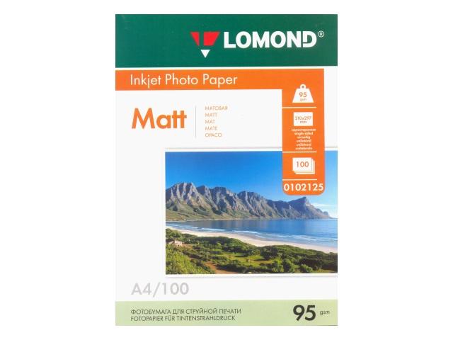 Фотобумага А4 Lomond матовая  95 г/м2 100л 0102125