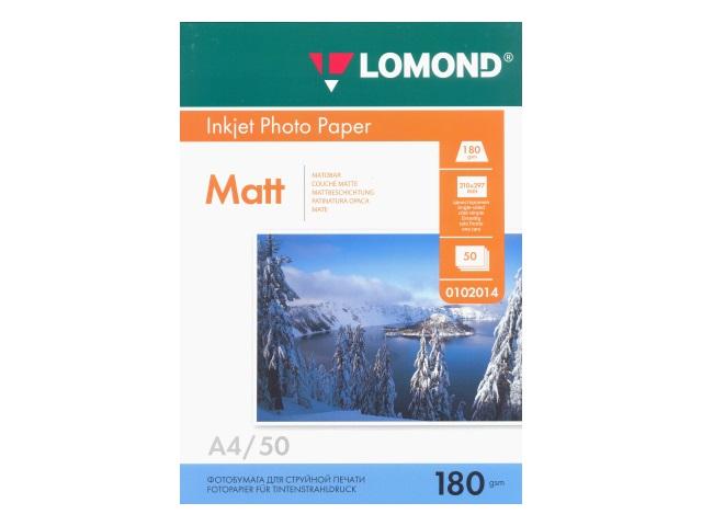 Фотобумага А4 Lomond матовая 180 г/м2 50л 0102014