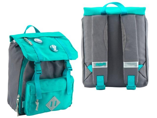 Рюкзак детский Kite Значки 24*24*11см бирюзовый K18-543XXS-3