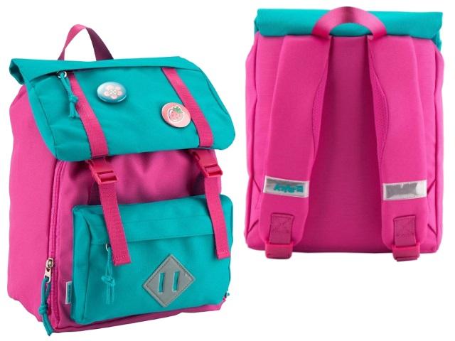 Рюкзак детский Kite Значки 26*24*11см бирюзово-розовый K18-543XXS-1