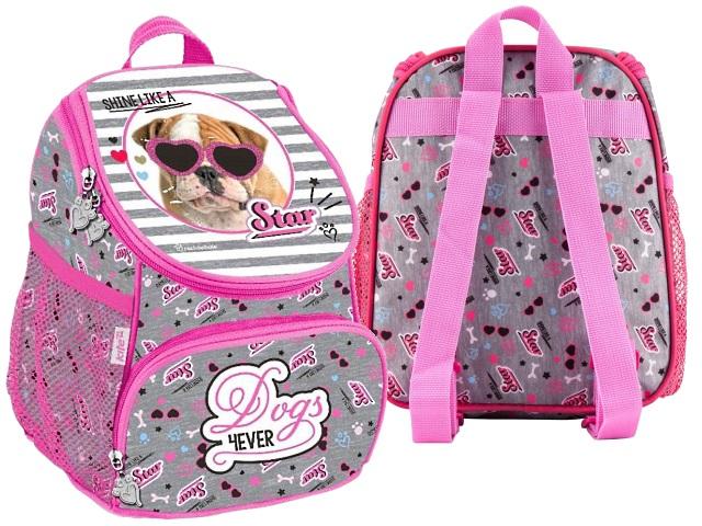 Рюкзак детский Kite Dogs 4ever 24*19*13см серо-розовый R18-535XXS