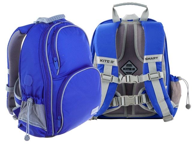 Ранец школьный Kite Smart 38*28*15см синий + подарок K19-702M-3