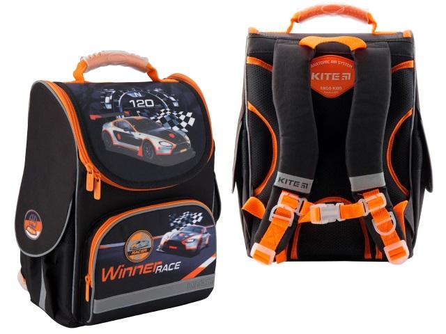 Ранец школьный Kite Winner race 35*25*13см черно-оранжевый K19-501S-8