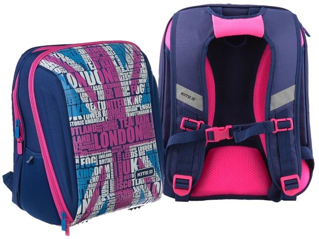 Ранец школьный Kite London 37*26*18см сине-розовый K19-732S-1