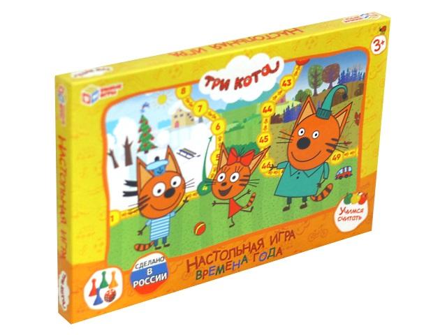 Настольная игра-ходилка Времена года Три кота Умные игры