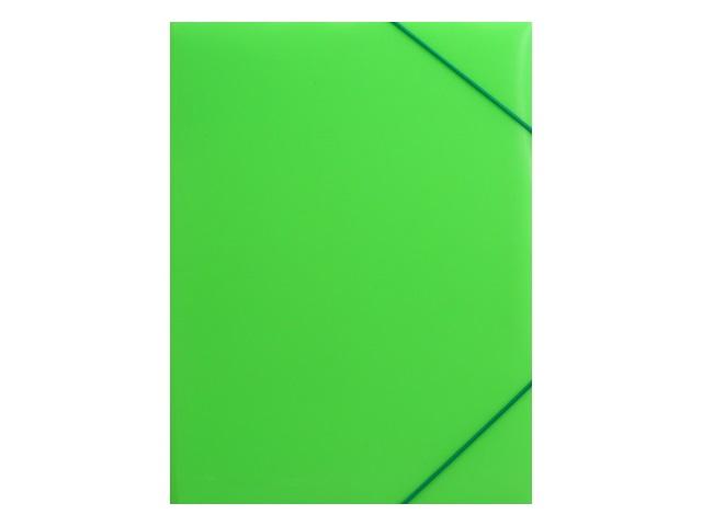 Папка на резинке А4 Бюрократ Double Neon салатовая DNE510lett