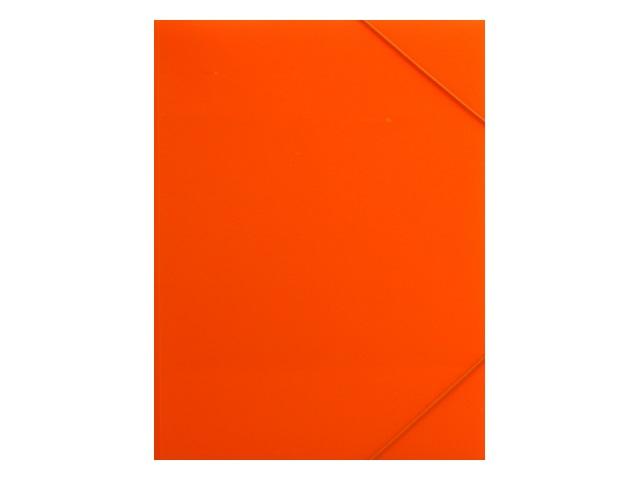 Папка на резинке А4 Бюрократ Double Neon оранжевая DNE510or