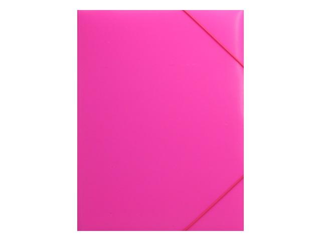 Папка на резинке А4 Бюрократ Double Neon розовая DNE510pink