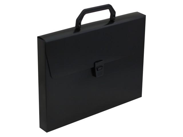 Портфель А4 пластик Бюрократ  1 отделение черный DLPP01blck