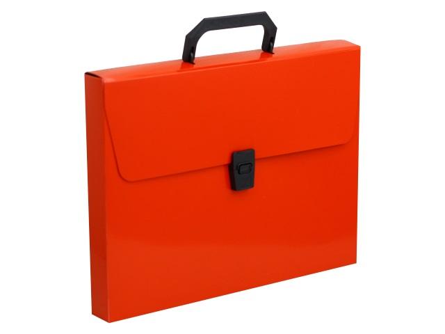 Портфель А4 пластик Бюрократ  1 отделение красный DLPP01red