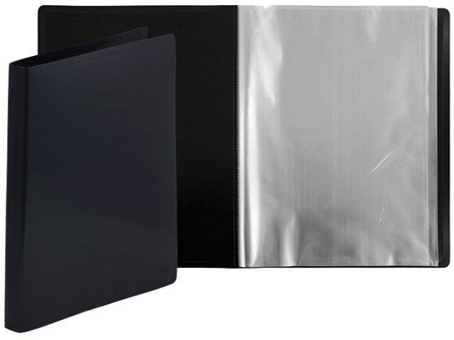 Папка с файлами  10ф А4 Бюрократ DeLuxe 0.7мм черная DLV10blck