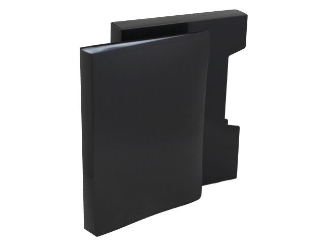 Папка с файлами  80ф А4 Бюрократ DeLuxe 0.7мм в коробе черная DLVBOX80blck