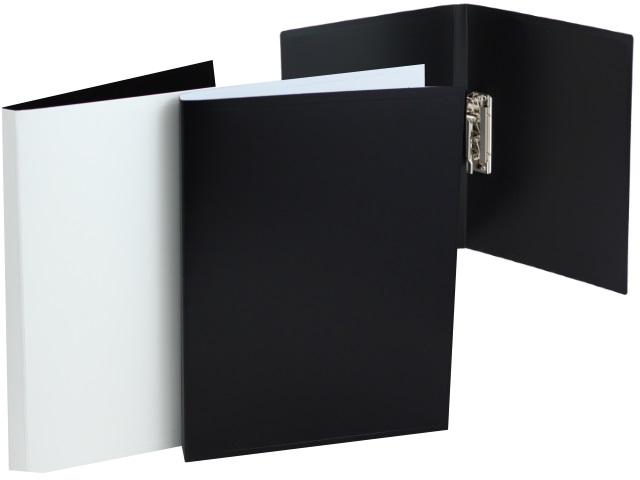 Папка с зажимом А4 Бюрократ BlackWhite 0.8мм черно-белая BWPZ08C