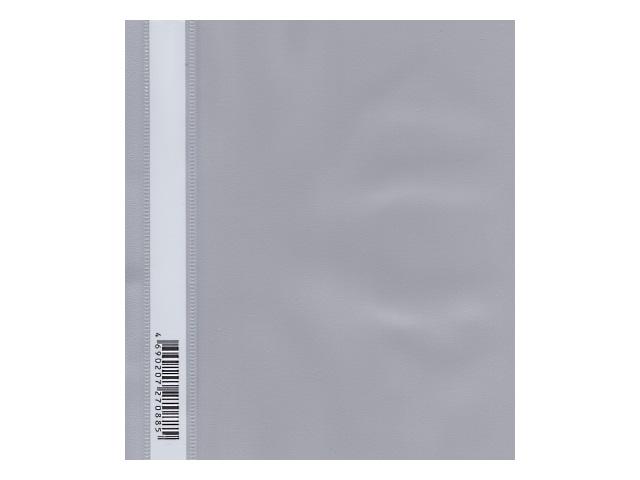 Скоросшиватель А5 Бюрократ Люкс серый глянцевый PSL20A5grey