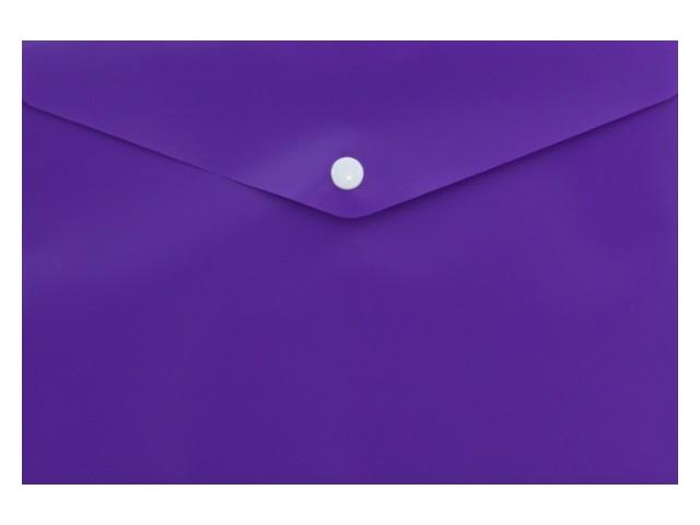 Папка конверт на кнопке А5 Бюрократ фиолетовая 180мкм K804A5Nvio