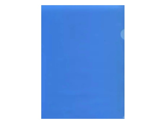 Уголок А4 100мкм Бюрократ синий матовый 100мкм E100blue