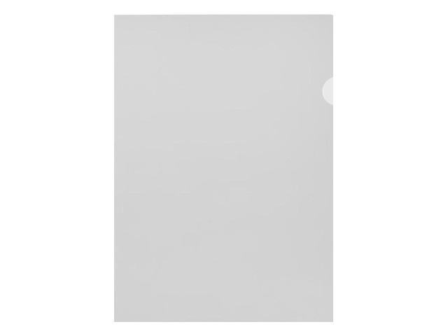 Уголок А4 100мкм Бюрократ прозрачный матовый E100clear