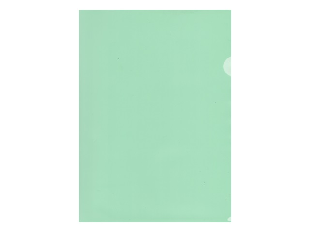 Уголок А4 100мкм Бюрократ зеленый матовый E100grn
