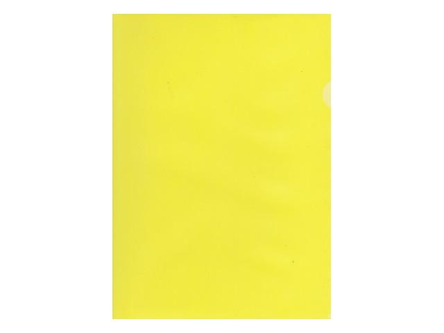 Уголок А4 100мкм Бюрократ желтый матовый E100yel