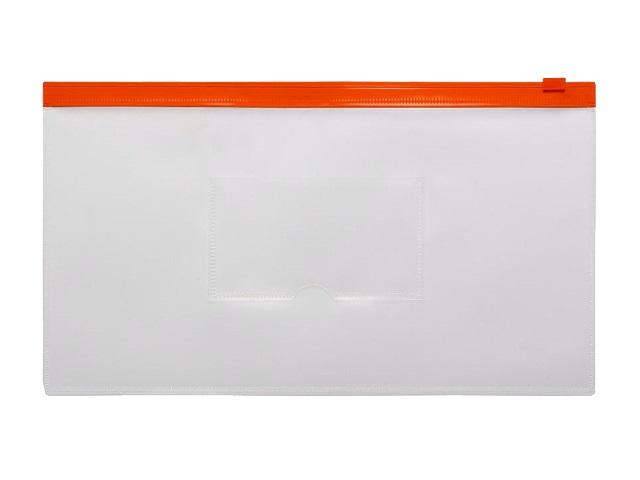 Папка на бегунке А6 Бюрократ Travel с карманом красная 150мкм BPM6Ared\12