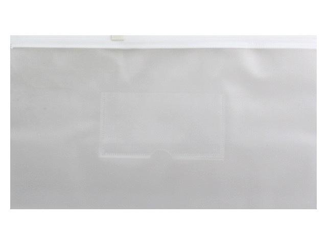 Папка на бегунке А6 Бюрократ Travel с карманом белая 150мкм BPM6AWT\12