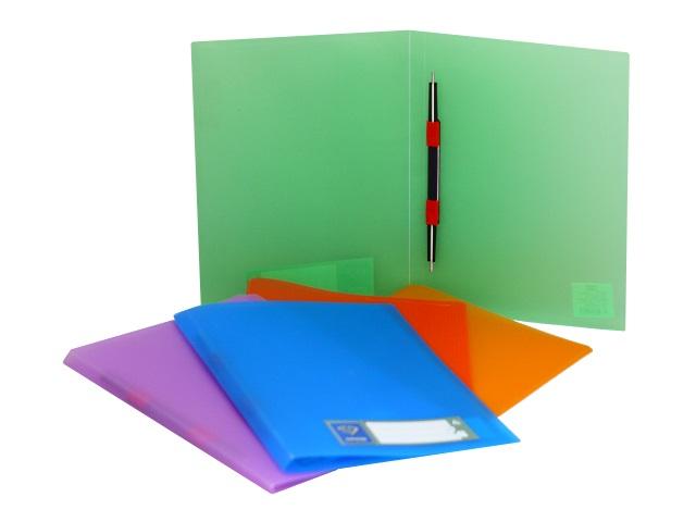 Папка-скоросшиватель А4 Бюрократ Crystal 0.5мм цветная CR05P