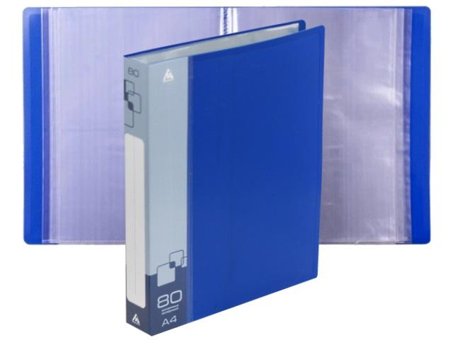 Папка с файлами  80ф А4 Бюрократ синяя BPV80BLUE