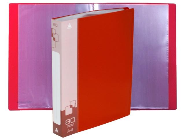 Папка с файлами  80ф А4 Бюрократ 0.8мм красная BPV80RED