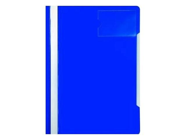 Скоросшиватель с кармашком А4 Бюрократ синяя PS-V20blue