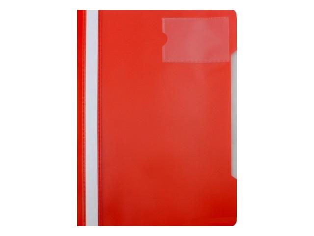 Скоросшиватель с кармашком А4 Бюрократ красная PS-V20red